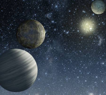 Three recently confirmed planets - artist's impression (NASA/Caltech)