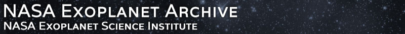 Exoplanet Archive banner